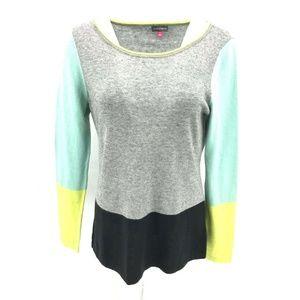 Vince Camuto Lightweight Colorblock Sweater Sz L